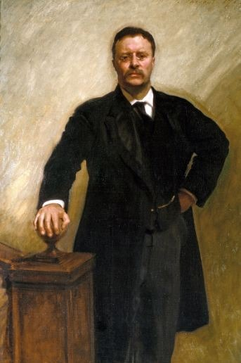 A portrait of Theodore Roosevelt by John Singer Sargent